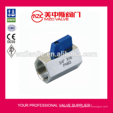 316 Mini Ball Valve F/F Threaded Ends PN63 Mini Ball Valve
